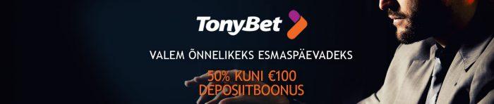 TonyBet kasiino promo
